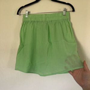 Lightweight airy green skirt
